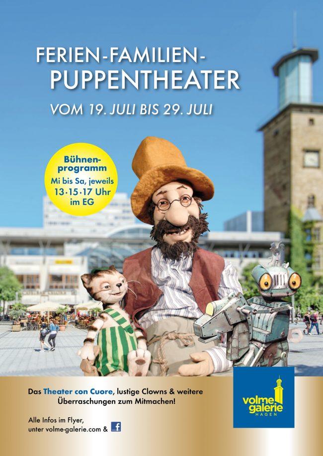 Erleben Sie das Ferien-Familien-Puppentheater!