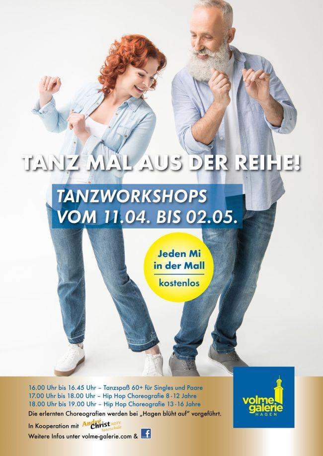 Tanzworkshops für Jung und Alt in der Volme Galerie Hagen