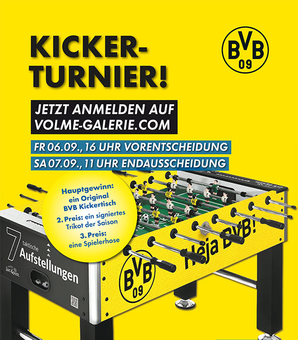 KICKERTURNIER am 6. + 7. September